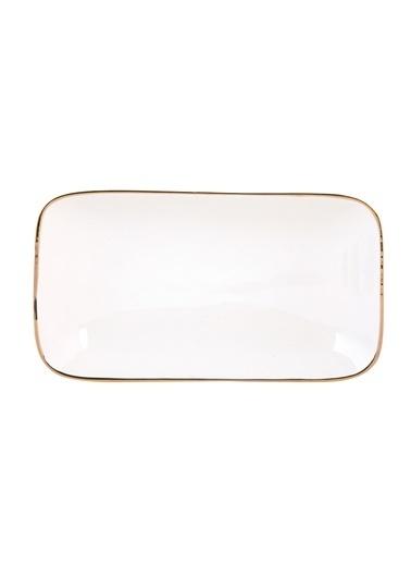 Bella Maison Allure Beyaz Dikdörtgen Tabak (20 cm) Beyaz